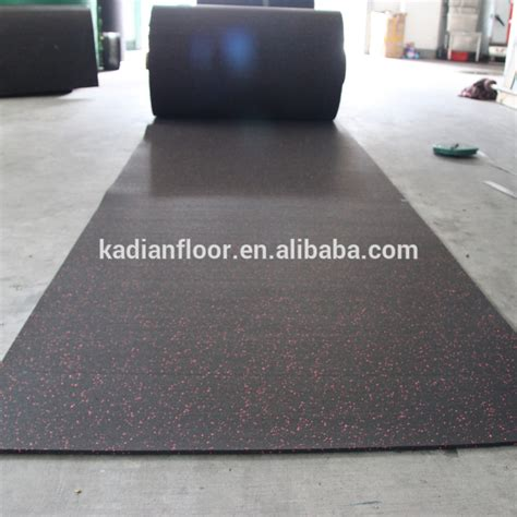 crossfit center rubber floor in roll for indoor and