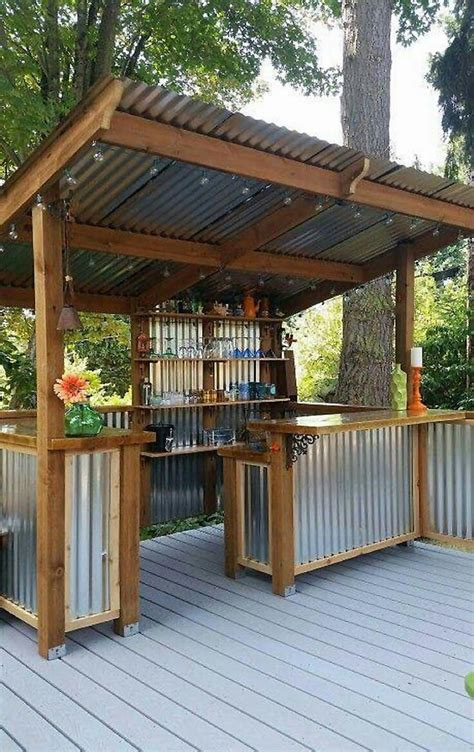 Backyard Bar Designs Ideas Unique With Photo Rustic