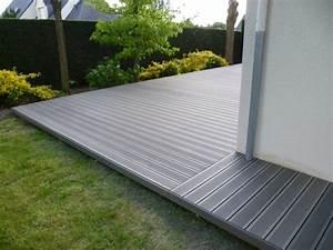 Pose Lame De Terrasse Composite Sans Lambourde : pose terrasse bois composite sur lambourde ~ Premium-room.com Idées de Décoration