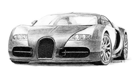 bugatti veyron pencil drawing click on image for prints