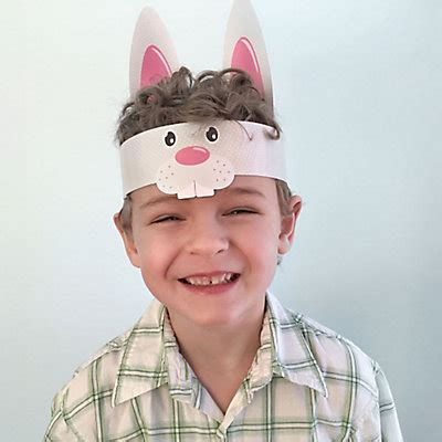 Hippity Hoppity  Easter Bunny Hat And Paw Prints Kit