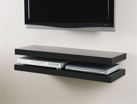 Black Media Floating Shelf Kit 900x300x50mm Mastershelf