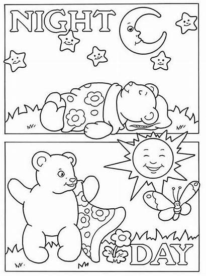 Opposites Coloring Pages Welcome Dover Night Publications