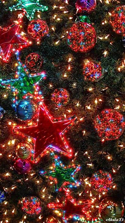 Lights Gifs Glitter Tree Ornaments Animated Merry