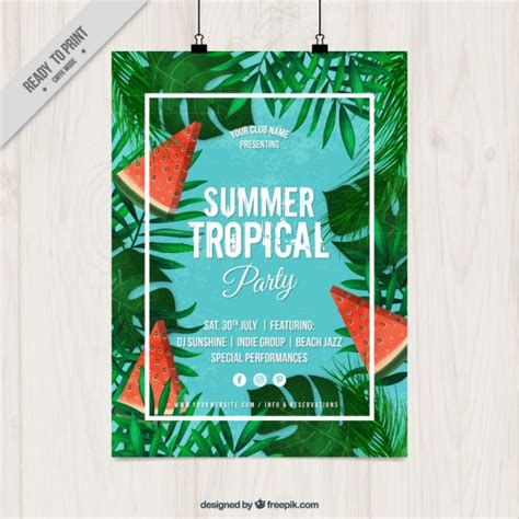 summer tropical party poster stock images page everypixel
