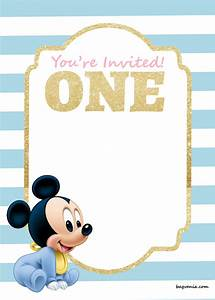 FREE Printable Disney Princess 1st Birthday Invitations