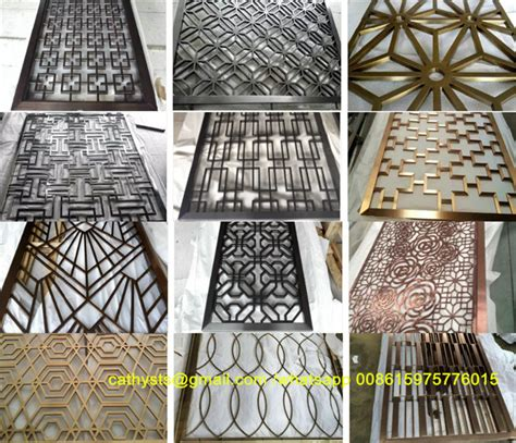 polishing stainless metal stainless steel laser cut screens decorative