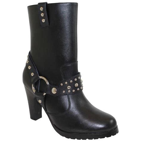womens  ad tec side zip biker boots