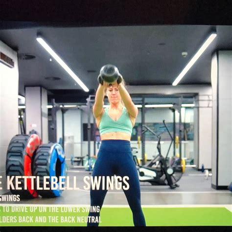 swings kettlebell double skimble exercise