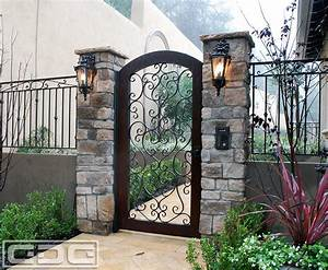 Awesome Picture of Wood And Iron Gates Designs - Catchy