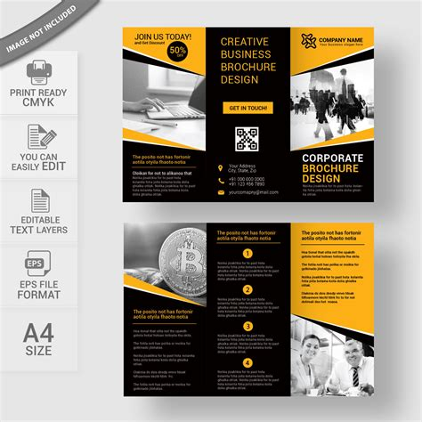 Folding Brochure Template Business Tri Fold Brochure Template Print Ready Wisxi