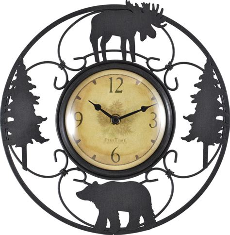 wildlife wire clock rustic wall clocks by firstime manufactory