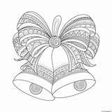Coloring Bells Zentangle Adult Printable sketch template