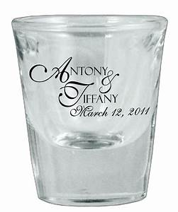 126 wedding favors personalized glass shot glasses by for Wedding shot glass favors