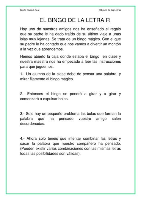 bingo de la letra r 01 orientaci 243 n and 250 jar recursos