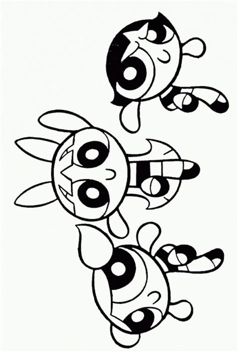 printable powerpuff girls coloring pages  kids