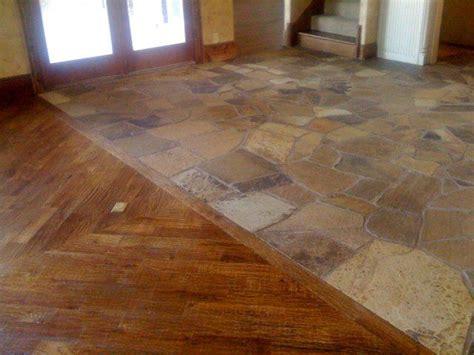 flagstone flooring tile floors  wine room michel