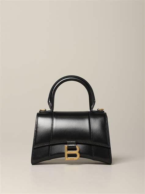 balenciaga hour glass xs bag  leather   monogram