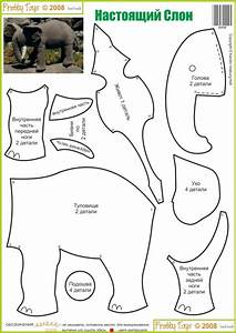 elephant stuffed toy pattern sewing With templates for sewing animals