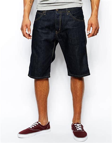 lyst carhartt skill denim shorts  blue  men