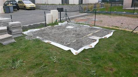 construction de notre dalle pour abri de jardin notre maison rt2012 par trecobat