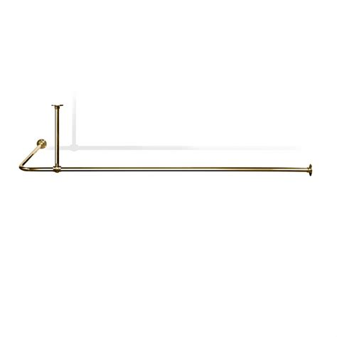l shaped shower curtain rail with ceiling fixing in