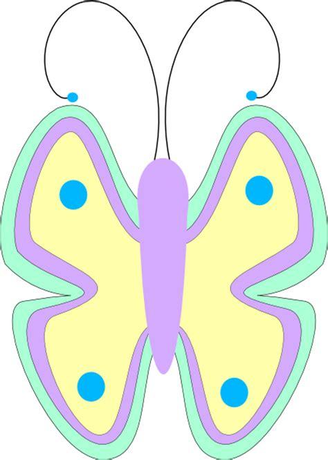 butterfly pastel clip art  clkercom vector clip art