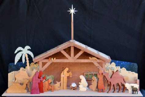 wood work wooden nativity plans easy diy woodworking