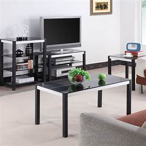 luxury black glass living room home furniture sets for With black and glass living room furniture
