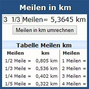 Kmh Berechnen : umrechnung meilen in km online rechner und tabelle ~ Themetempest.com Abrechnung