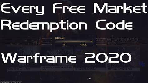 warframe codes  market redemptionpromo codes