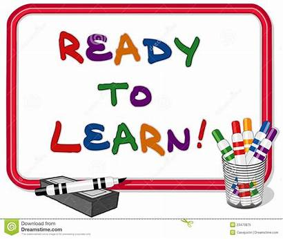 Learning Clipart Ready Learn Whiteboard Children Frame