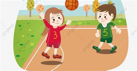 wow 30 gambar kartun anak sedang bermain bola
