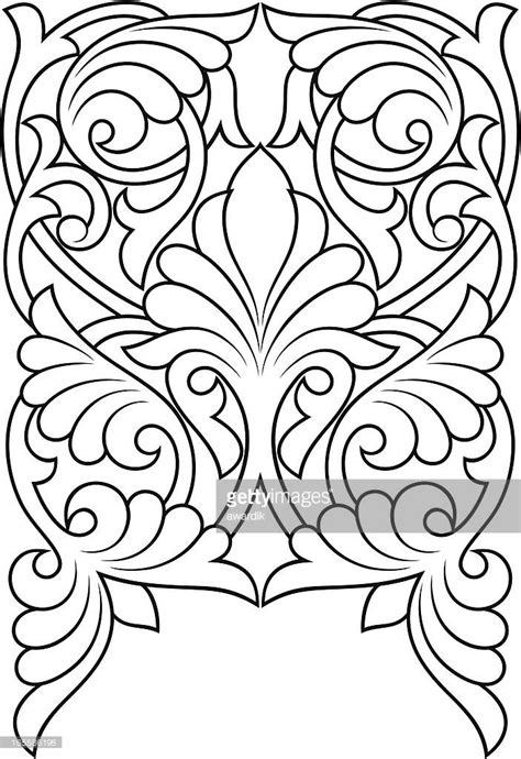 Vector Art : background   Leather tooling patterns