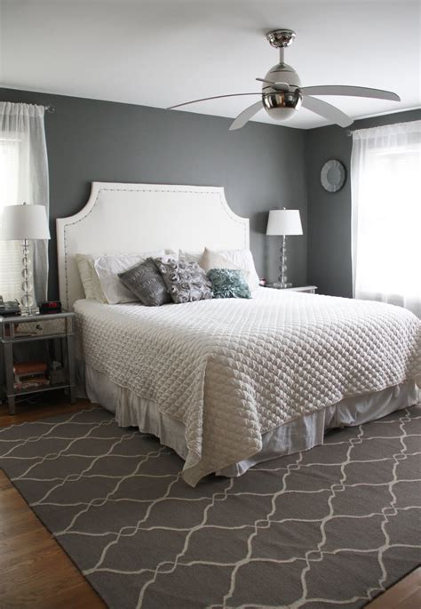 under blanket bed fan engaging grey accents wall paint for bedroom with white