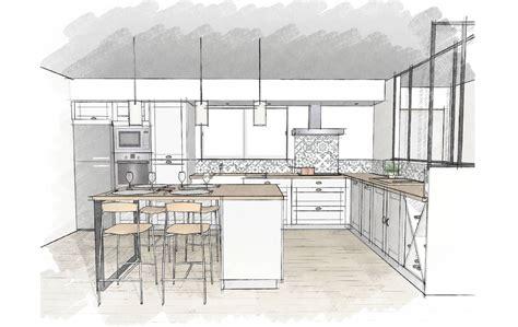 plan de maison avec cuisine ouverte plan cuisine en l avec ilot plan cuisine en u avec coin