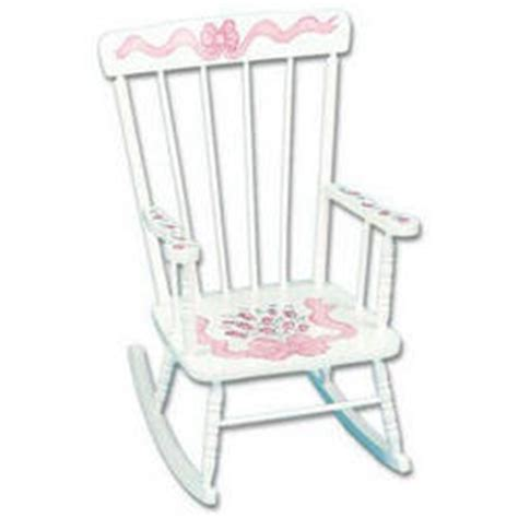personalized childrens rocking chairs children s painted personalized rocking chair findgift
