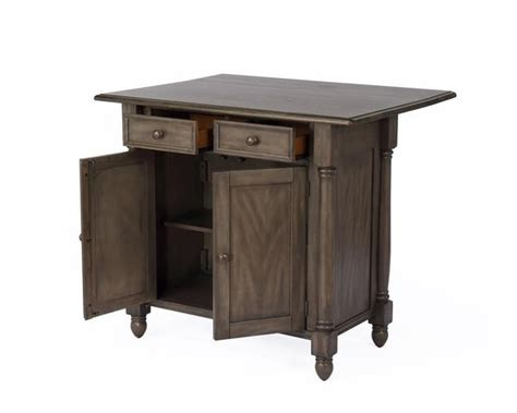 Shades Of Gray Drop Leaf Kitchen Island With 2 Drawers, 2 Doors And Pi Ball Bearing Drawer Glides Storage Cabinets 30 Warming Childproofing Drawers Without Screws Home Depot Kitchen Office Desk Push To Open Runners Art Deco Pulls