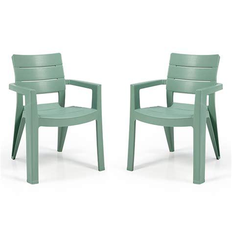 lot de 2 fauteuils ibiza vert d eau oogarden france