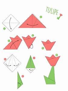 Fleur En Origami Facile : origami facile fleur tulipe ~ Farleysfitness.com Idées de Décoration