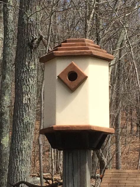 build  simple dovecote style birdhouse feltmagnet