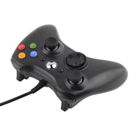 New Black Wired Game Remote Controller For Microsoft Xbox