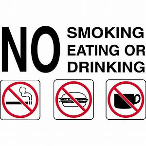 """""""No Smoking Eating or Drinking"""" Sign   GEMPLER'S"""