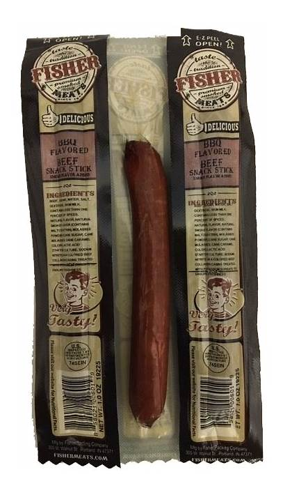 Meats Fisher Beef Bbq Sticks Snack Nutrition