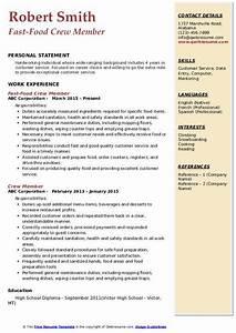 Computer Skills In Resume Sample Crew Member Resume Samples Qwikresume