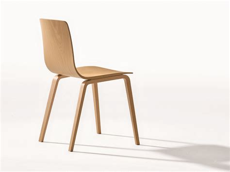 chaise bois design stackable wooden chair aava collection by arper design