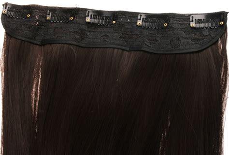 Löshår rakt 5 Clip on - Mörkbrun #6B | Mizzy.se Skönhet på ...