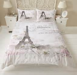 eiffel tower floral roses calligraphy script duvet set quilt cover bedding ebay