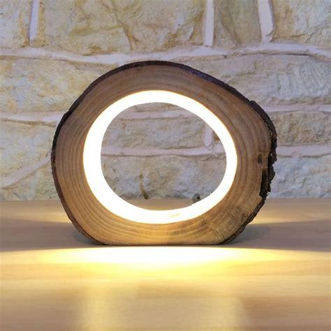 hollow log bedside lamp id lights