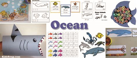 and animals activities lessons and crafts 149 | Ocean Animals Activities